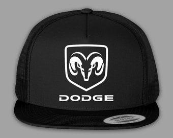 0e26816cf7d Dodge Hat   Trucker Mesh Snapback Cap - Black or Charcoal