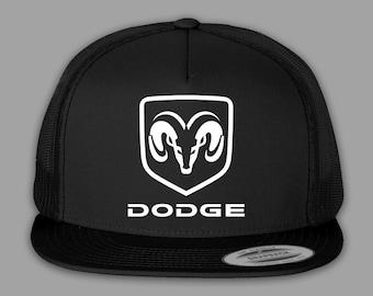 Dodge Hat   Trucker Mesh Snapback Cap - Black or Charcoal 04faaa06779
