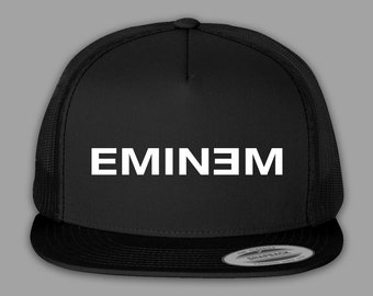 3e4bc41e30d Eminem Hat   Trucker Mesh Snapback Cap - Black or Charcoal