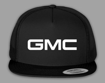 be60e081744 GMC Hat   Trucker Mesh Snapback Cap - Black or Charcoal