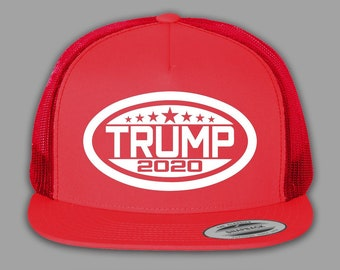 Donald Trump For President 2020   Mesh Snapback Cap Hat - Red bbd132e1006c
