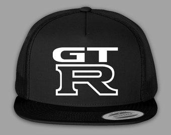 9515270178e Nissan GT-R Hat   Trucker Mesh Snapback Cap - Black or Charcoal
