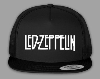 Led Zeppelin Hat   Trucker Mesh Snapback Cap - Black or Charcoal 9f968a9f54e