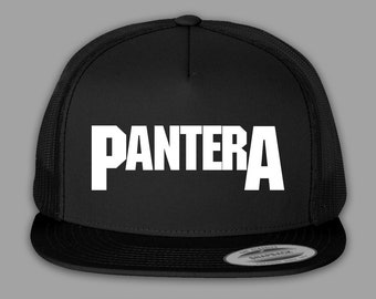 3e74931d22a34 Pantera Hat   Trucker Mesh Snapback Cap - Black or Charcoal