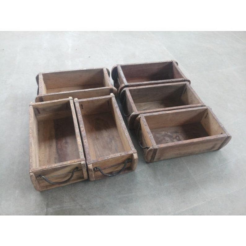 Vintage Wooden Brick Mould Indian Wooden Crates Wooden Box Storage Interiors
