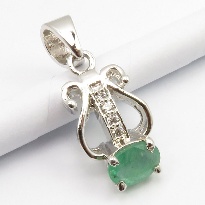 Solid Sterling Silver Rare EMERALD /& Cubic Zarconia Ring Sz 7.75 Pendant Gem Jewelry SETS Earrings 925 Huge AAA Grade High End Jewellery