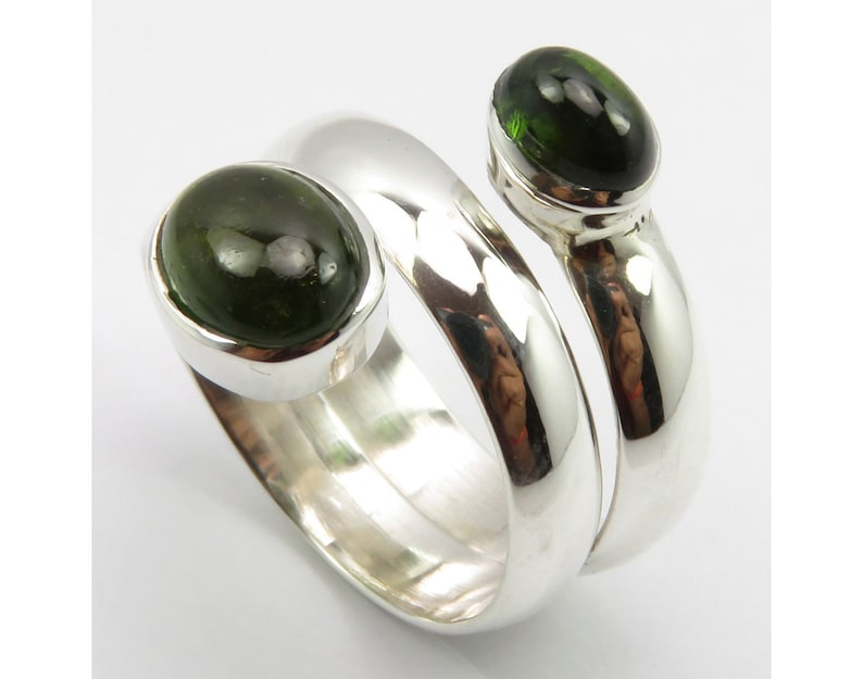 Tourmaline Flexible Finger Ring Sz 8.5 New Girls/' Jewelry Collection Handmade 925 Sterling Silver Low Price Factory Direct Online Jewellery