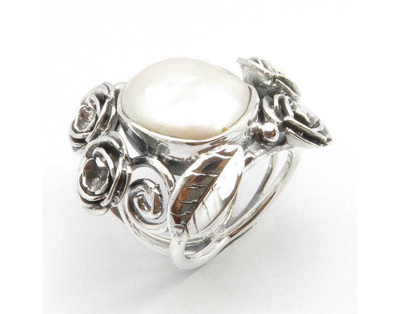 Free Gift Box 925 Sterling Silver Exclusive Rare Jewellery MOTHER Of PEARL Gorgeous Ring Sz 6.25 AAA Quality Natural Gemstone Jewelry