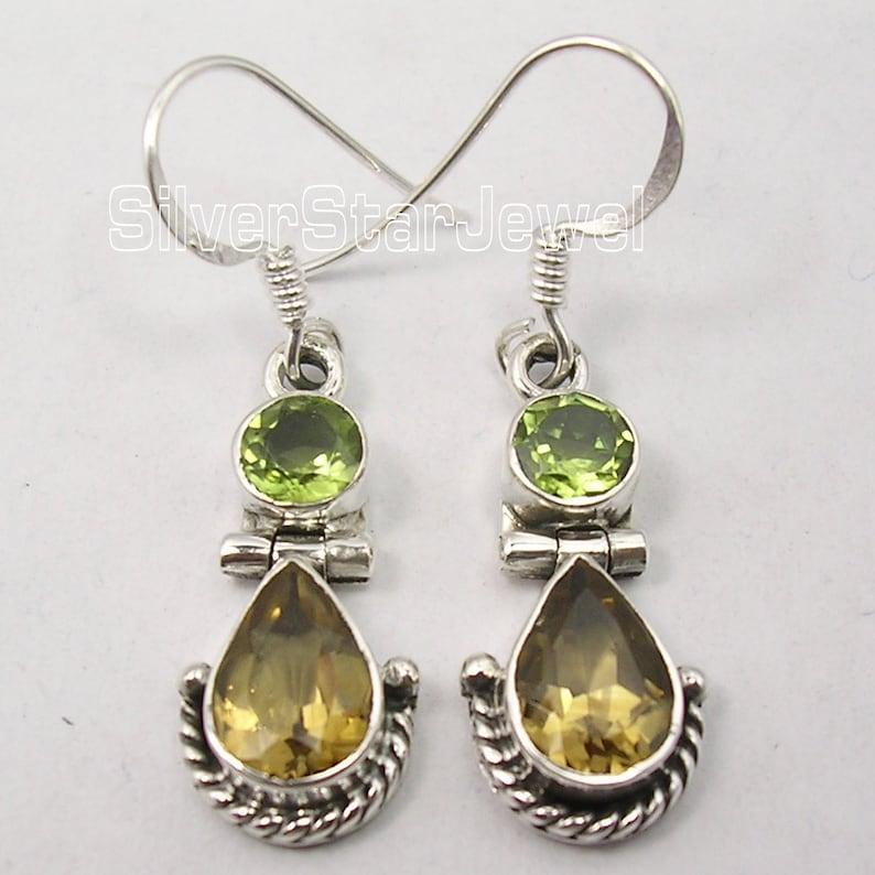 Wholesale Price 925 Silver PERIDOT CITRINE Earrings Pendant Set Eye-Catching Beautiful Jewellery Women/'s Collectible Bijoux Birthday Present