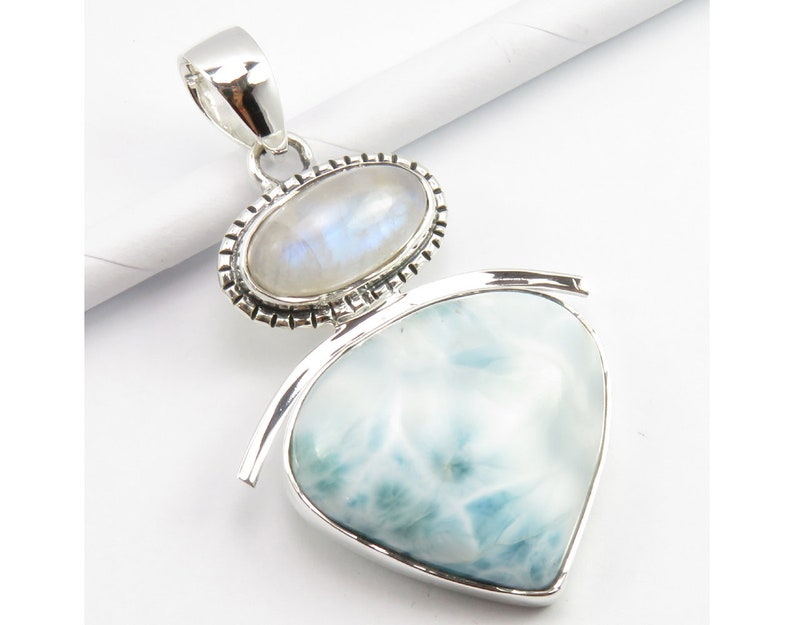 AAA Quality Sterling 925 Silver Jewelry Aquamarine Lady Drop Necklace