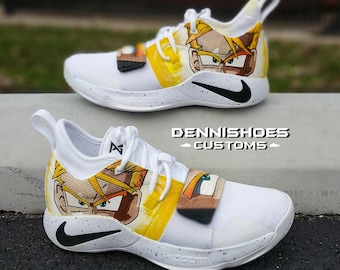 23d4a14fe5bb4 Custom Hand Painted Made To Order DBZ Inspired PG 2.5 Basketball Shoes