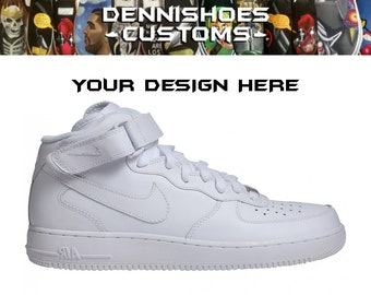 Made Whiteblack Hand To 1Etsy Painted Custom Nike Order Air Force stQhrd