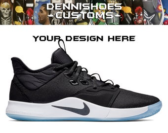 15370e6874f2 Custom Hand Painted Made To Order Nike PG 3 Paul George Basketball Athletic  Shoes (Men Women)