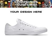 Custom Hand Painted Made To Order White Low Top Chuck Taylor All Star Classic Converse (Men Women)