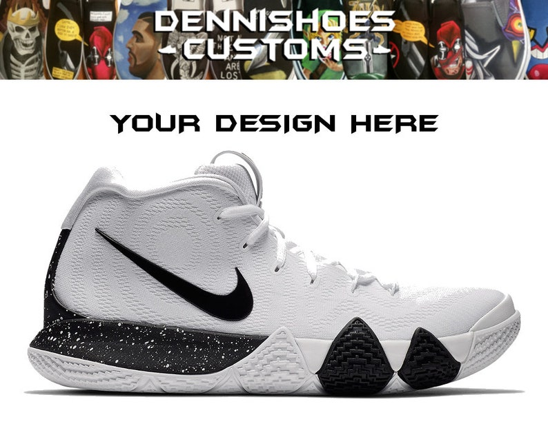 official photos b0cbc a1c0a Custom Hand Painted Made To Order Nike Kyrie 4 Basketball Athletic Shoes  (Men/Women)