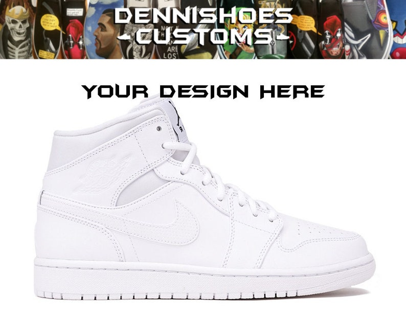 new style c2137 a762a Custom Hand Painted Made To Order Air Jordan 1 AJ1 Mid Shoes (Men/Women)