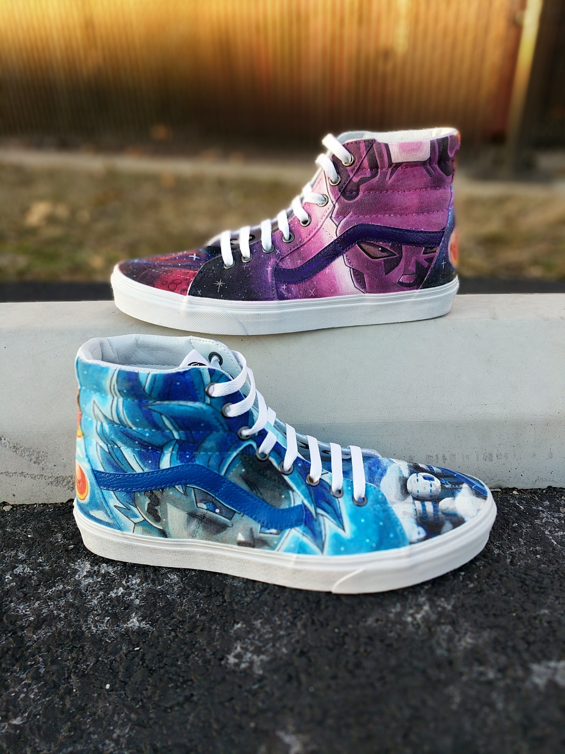 b2de2f3c4 Custom Dragon Ball Z Super SK8-Hi Vans Shoes