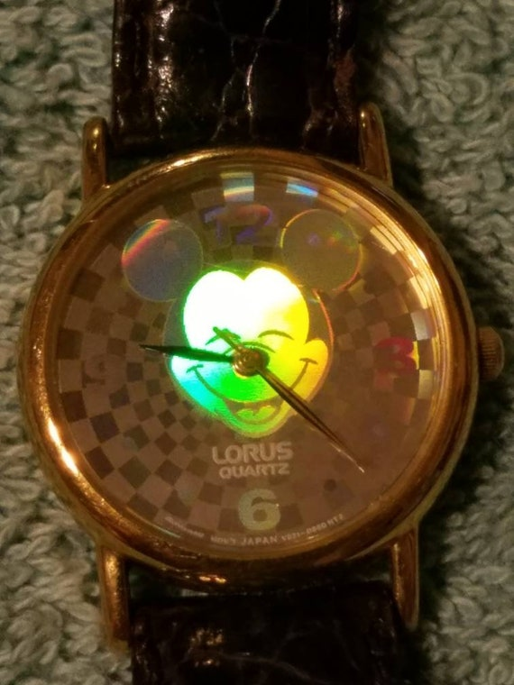Vintage Disney  Mickey Mouse checkered Hologram tw