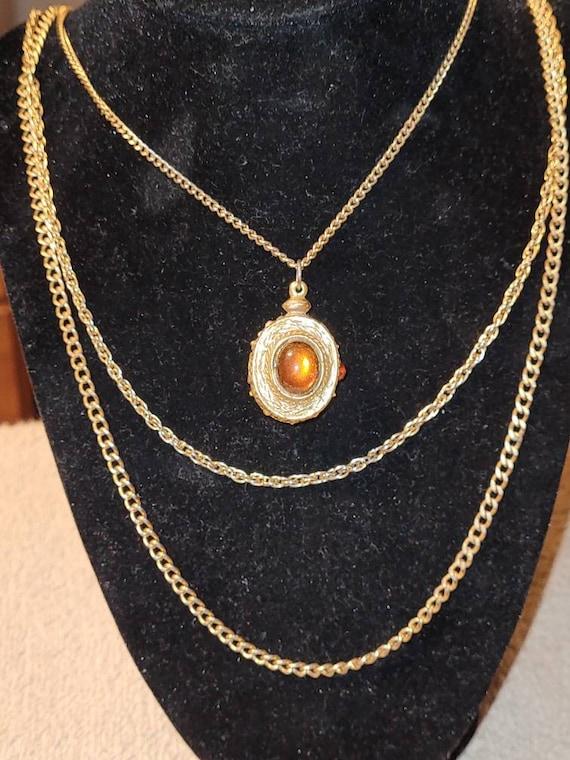 Vintage Goldette multi strand statement necklace