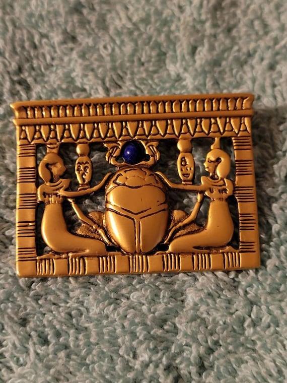 Vintage Egyptian Revival brooch, Vintage Egyptian