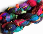1 meter indian sari falls silk for jewelry making, boho silk