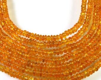 garnet beads for jewelry BH#89C 2-4 mm Orange Mandarin Garnet plain beads 5 Strand 16 Long- Natural Fanta Garnet rondelle beads