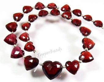 15 Strand BH#639 Natural Mozambique Garnet beads High Rare* Garnet Faceted Beads Red Mozambique Garnet Oval shape Briolette beads