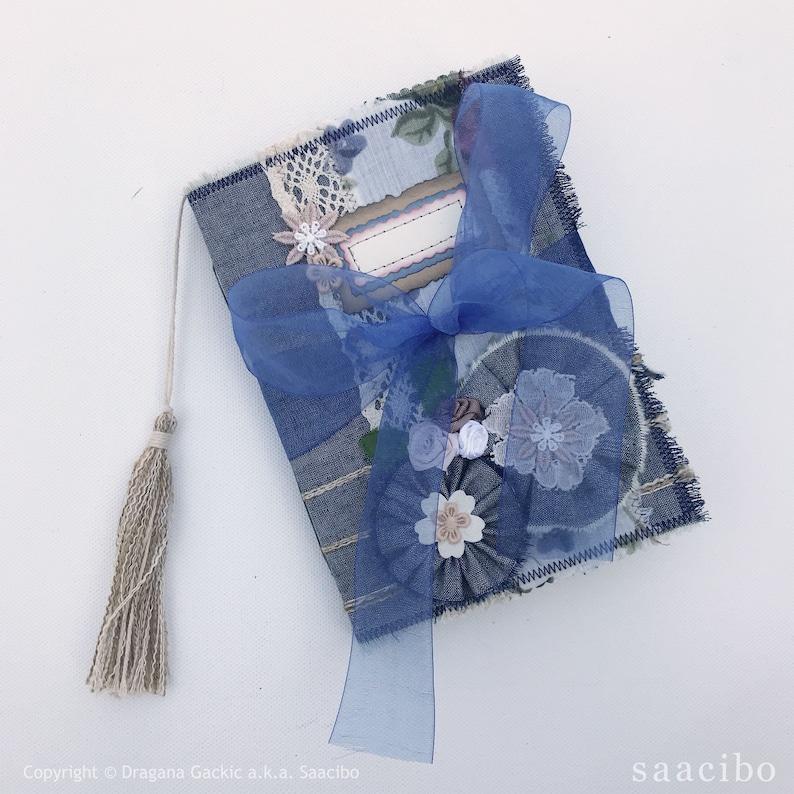 Handmade Junk Journal Denim Floral  Dreams image 1