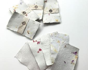 Botanical Handmade Paper. Sold as sets of 5 sheets. Restock