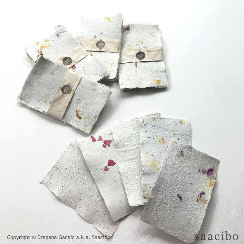 Botanical Handmade Paper. Sold as sets of 5 sheets. Restock image 1