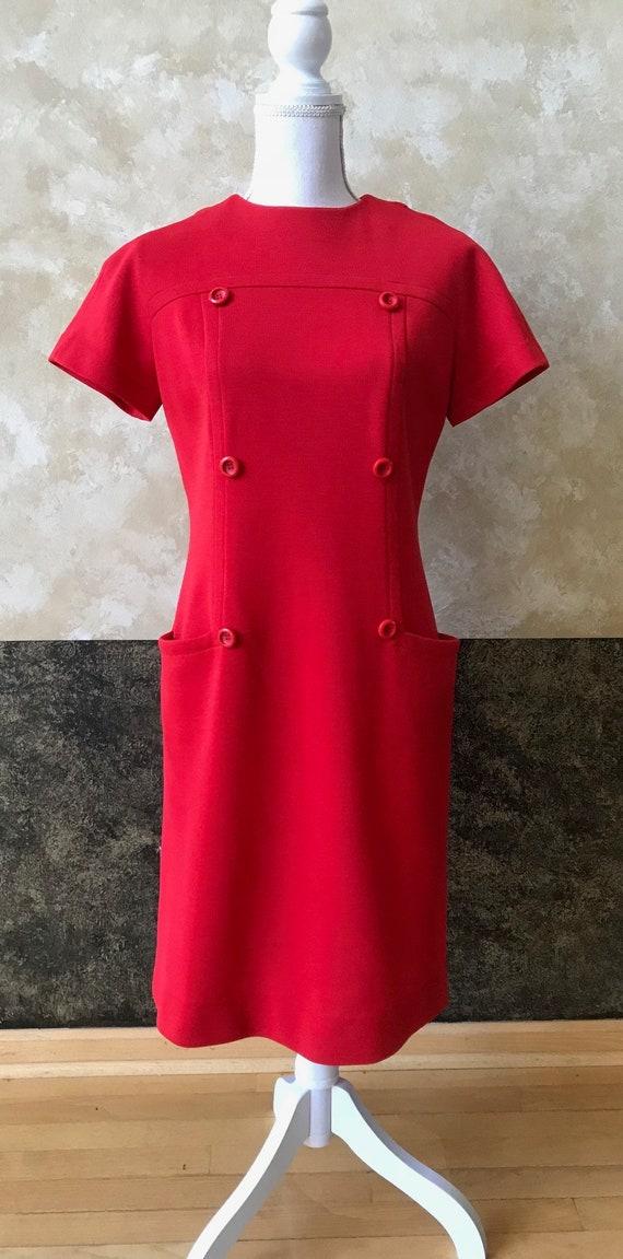 Vintage 1960s Mod Mini Dress - image 2