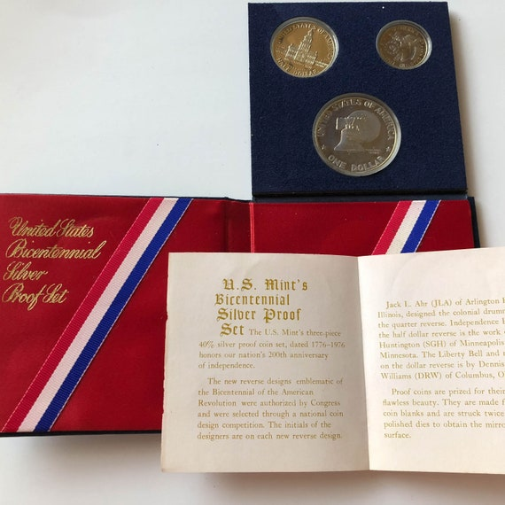 1976-S NEW SILVER PROOF BICENTENNIAL COMMEMORATIVE SET COMPLETE ORIGINAL PACKAGE