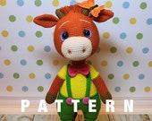 Crochet PATTERN baby ox amigurumi bull pdf tutorial cow pattern in English