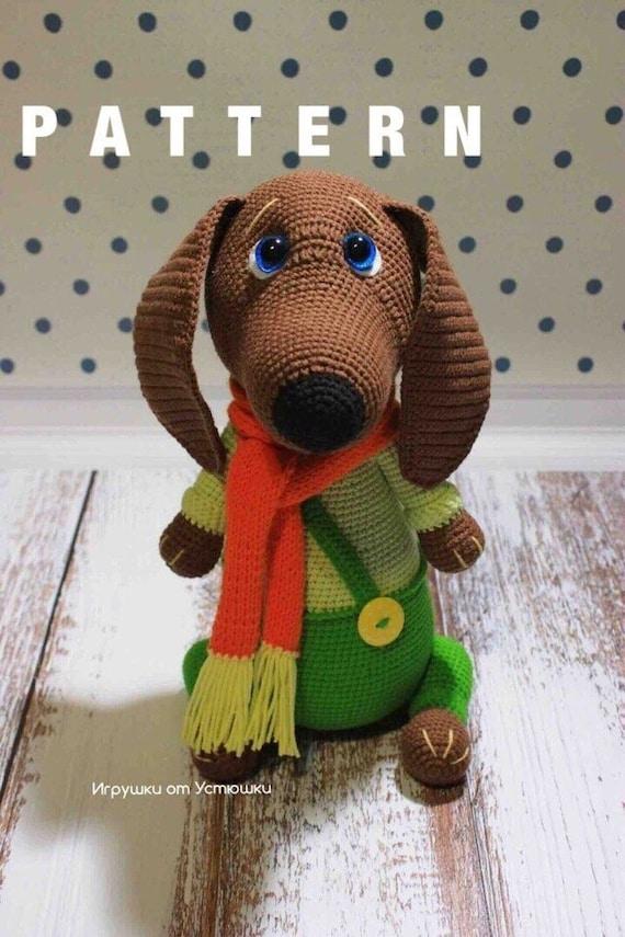 Amigurumi crochet doll - Manu the dachshund sausage dog PATTERN ... | 855x570