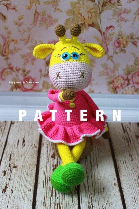 Amigurumi crochet giraffe pattern | Amiguroom Toys | 855x570
