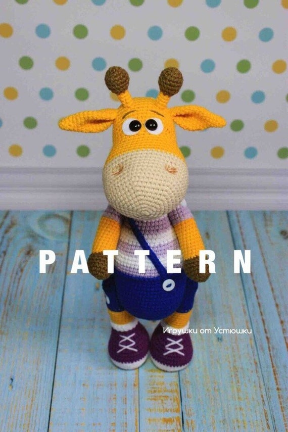PATTERN: Cuddle-Sized Giraffe Amigurumi, Crocheted Giraffe Pattern ... | 855x570