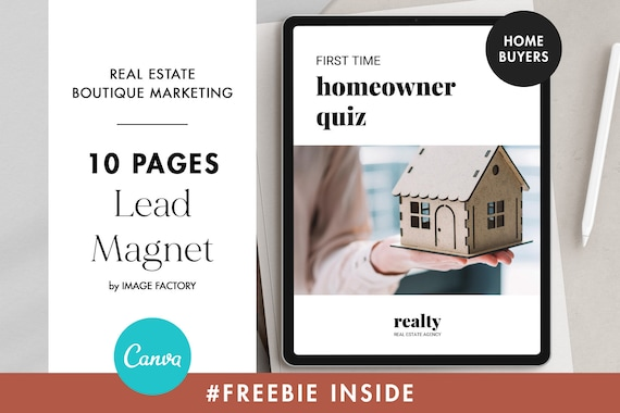 Real Estate Home Buyer Guide Canva Lead Magnet Template Etsy