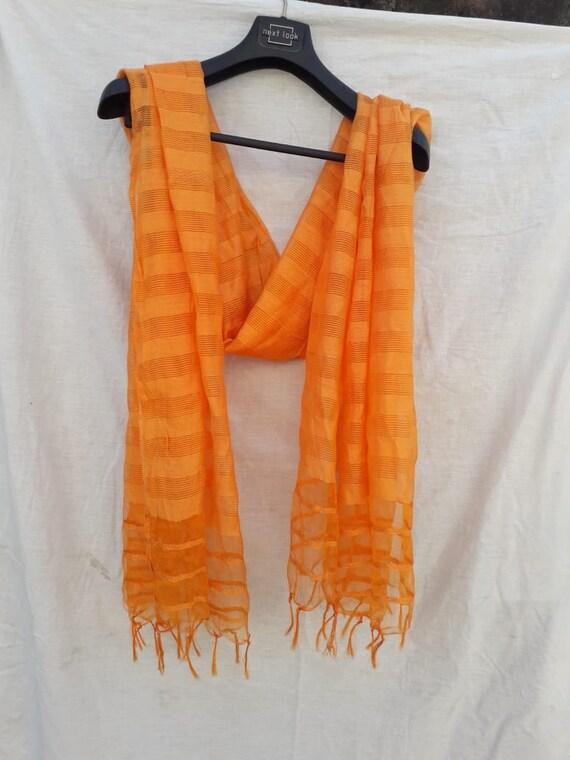 Orange and Yellow DupattaScarf