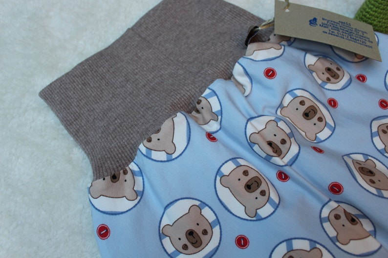 3-9 Mon blue bear Available immediately Warm lined Pucksackstrum Acksleeping bag