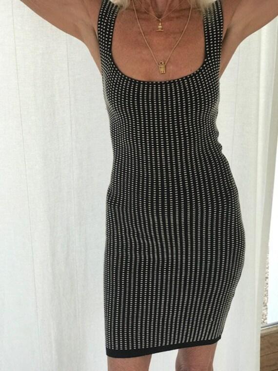Sexy 1980's Azzedine Alaia Cotton Stretch Dress