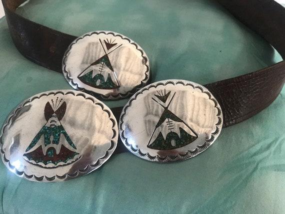 Antique Zuni Concho Belt