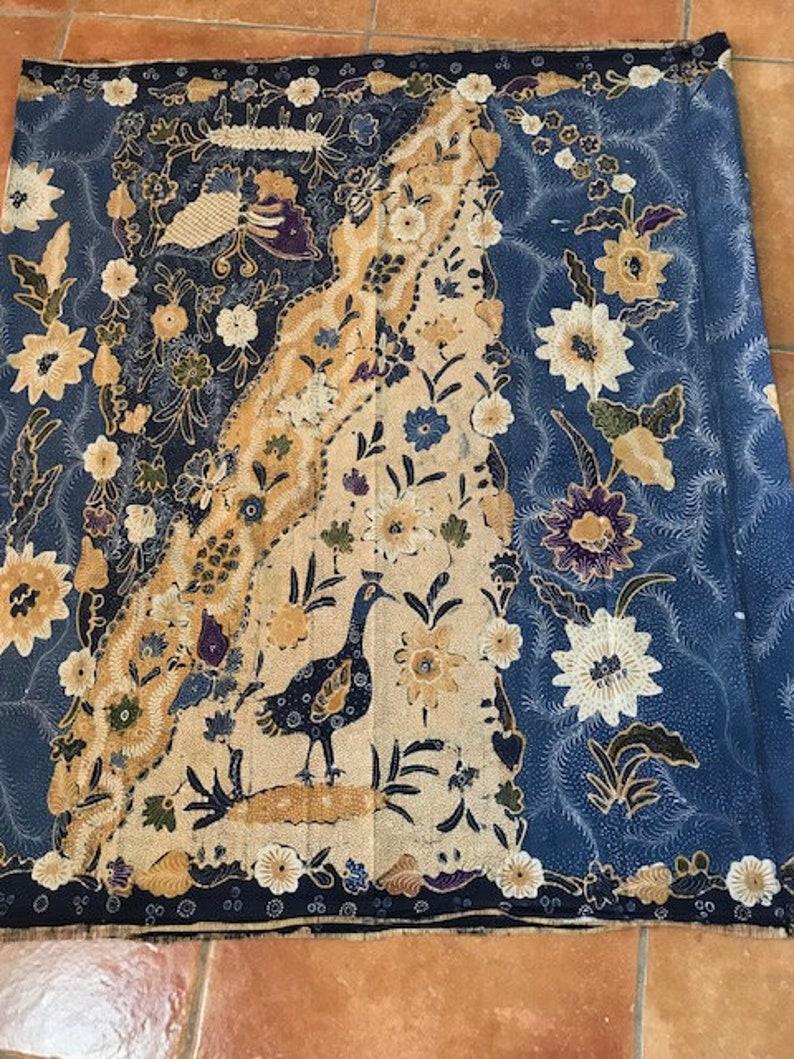 Vintage Indonesian hand painted batik