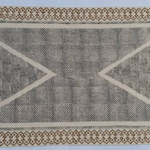 Multi Size Cotton Black /& White  Hand Block Print indian Rug Handmade Print rug
