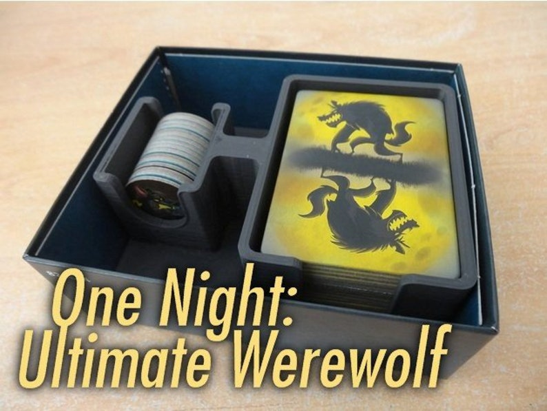 One Night: Ultimate Werewolf Game Organizer! Hold Boardgame Tokens/Cards   Like Alien/Vampire, Secret Hitler, The Resistance/Avalon, Coup!