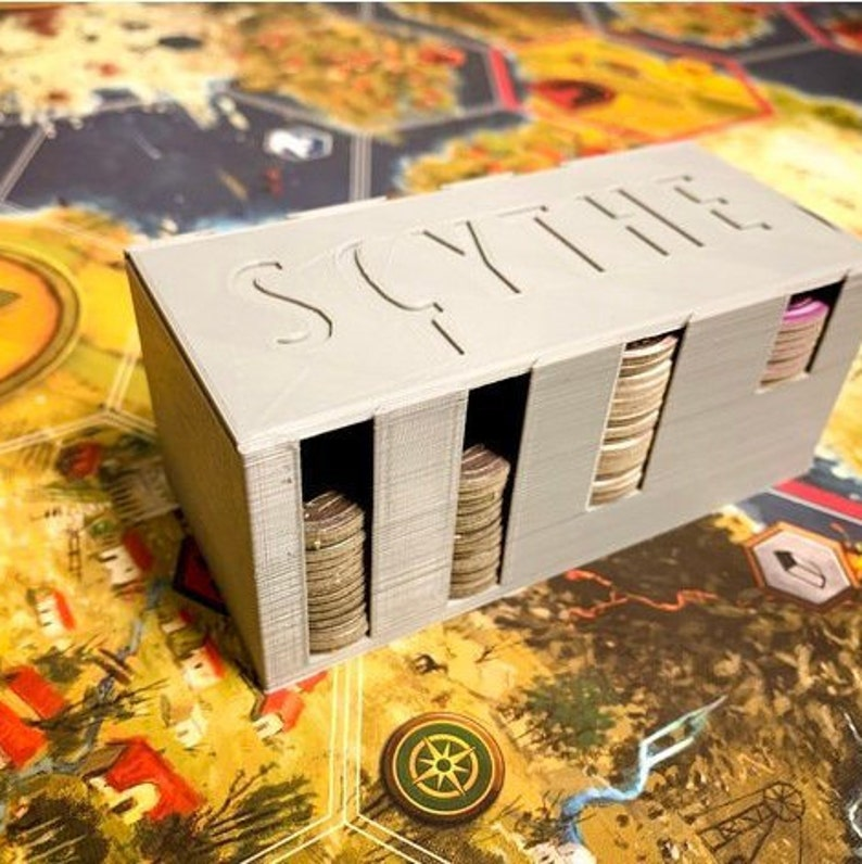 Coin Box w/ Lid for Scythe Board Game! Storage for Game Accessories, Coin  Storage and Enclosure