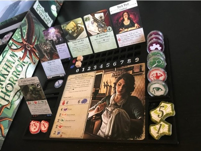 Deluxe Arkham Horror Dashboard! Sleek Hero Player Organizer for Dungeon  Crawl Tabletop Gaming  Like Descent, Mansions