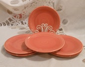 Vintage Original Rose Salmon Genuine Fiesta 6-3 8 quot Bread Butter Plate Pink Homer Laughlin China Co USA c1951