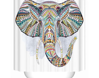 Elephant Shower Curtain High Quality Waterproof Polyester Fabric