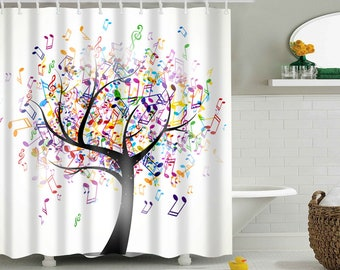3d Dark Green Tree 8 Shower Curtain Waterproof Fiber Bathroom Windows Toilet Window Treatments & Hardware Shower Curtains