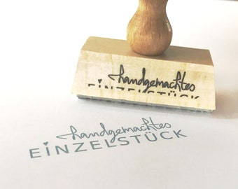 """wooden stamp """"handmade single piece"""" - most wanted!"""